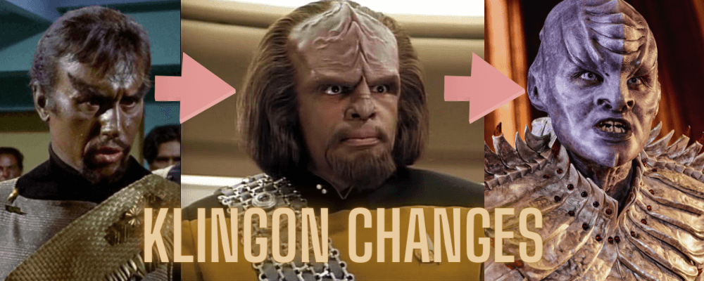 Klingons change in appearance
